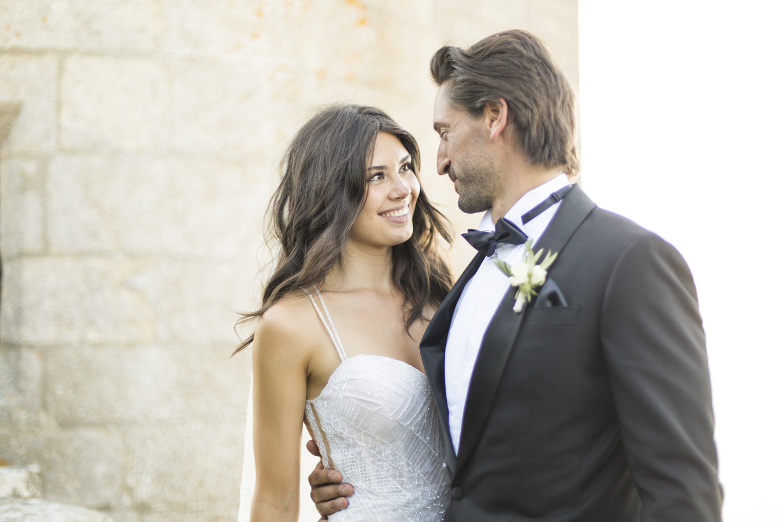fotografia de boda en el parador de baiona