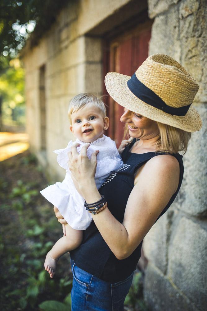Sesión con bebé al aire libre